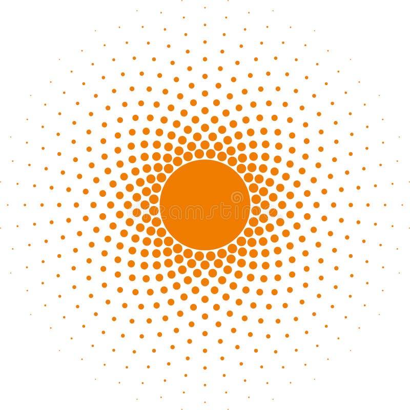 Halftone vector het ontwerpelement van het cirkelkader vector illustratie