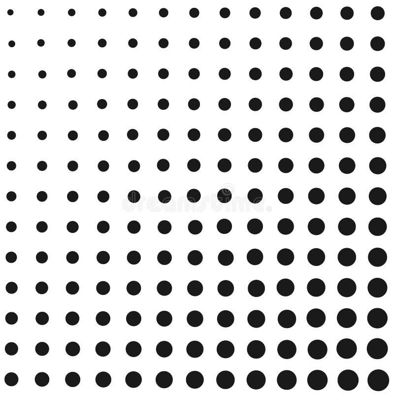 Halftone verdwijn gradi?ntachtergrond langzaam Zwart-witte grappige achtergrond Zwart-wit puntenvector royalty-vrije illustratie