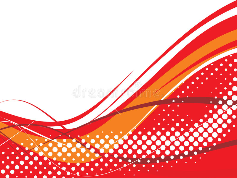 Halftone wave background royalty free illustration