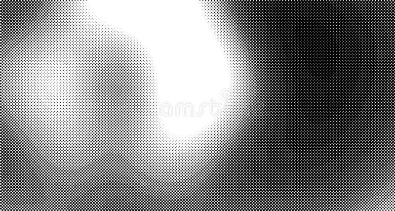 Halftone wave psychedelic background. Curved gradient texture or pattern. Vertical gradient dots. Pop art texture. Vector. Illustration vector illustration