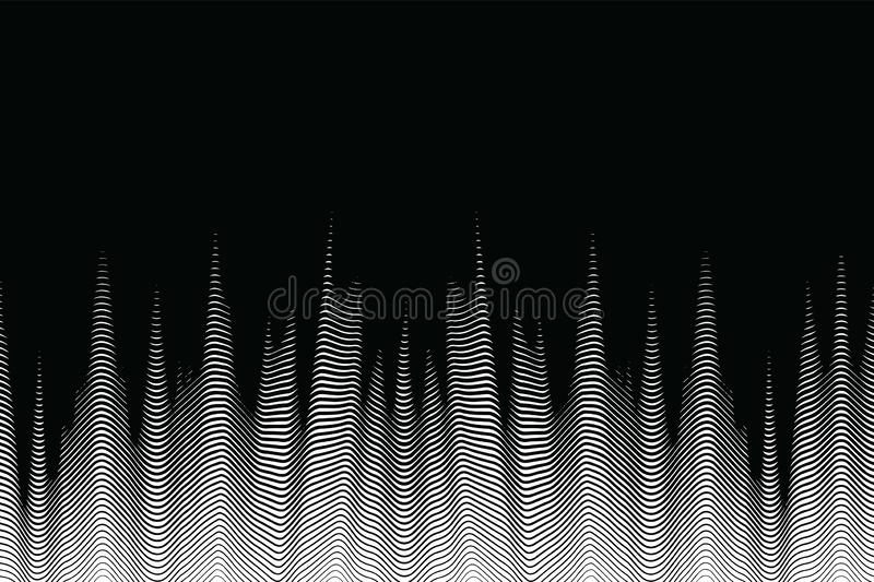 Seamless halftone waves, futuristic abstract background. Modern design wallpaper, screen print texture, abstract digital design royalty free illustration
