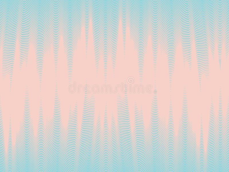 Modern dynamic wallpaper, seamless halftone waves. Abstract futuristic background, modern dynamic wallpaper, seamless halftone waves, abstract background, vector stock illustration