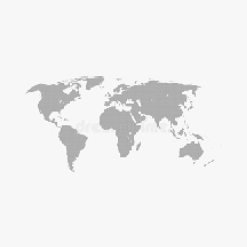 Halftone world map on gray background stock vector illustration download halftone world map on gray background stock vector illustration of isolated geography gumiabroncs Gallery
