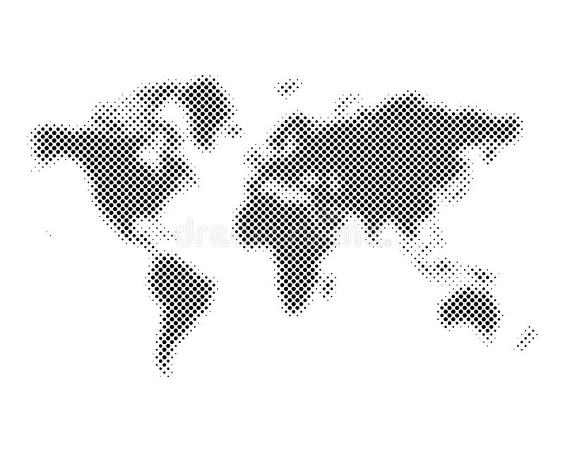 Halftone world map vector illustration stock illustration download halftone world map vector illustration stock illustration illustration 89076834 gumiabroncs Images