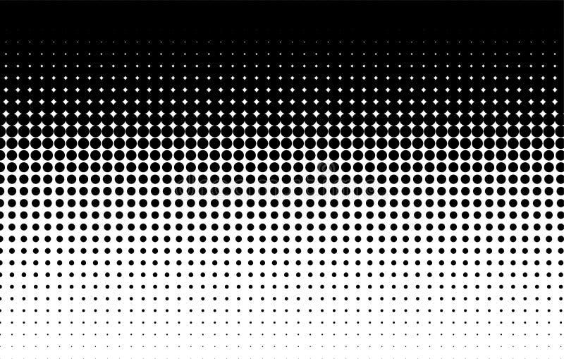 Halftone wzór Komiczny tło czarny white ilustracja wektor