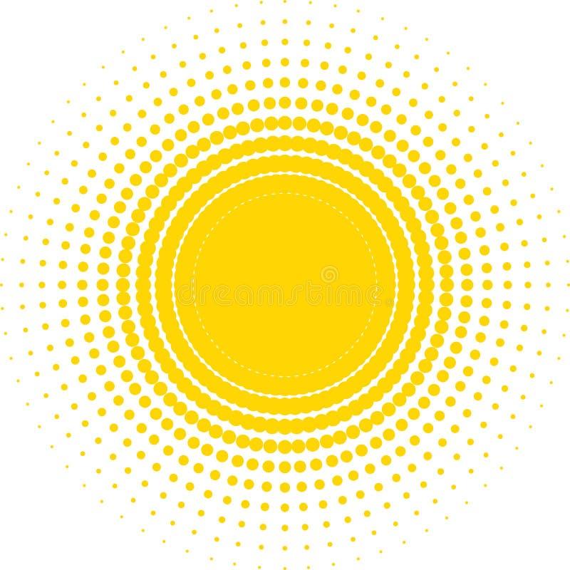Halftone zon royalty-vrije illustratie