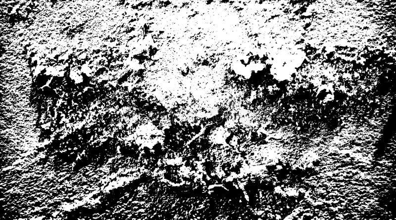 Halftongrunge, gestört, schwarz-weiß, Vektor-Textur aus Betonboden für abstrakte Kreation stockbild