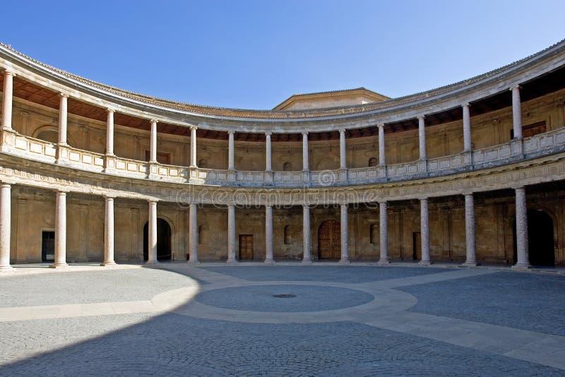 hali starożytnego pałacu alhambra Hiszpanii fotografia royalty free