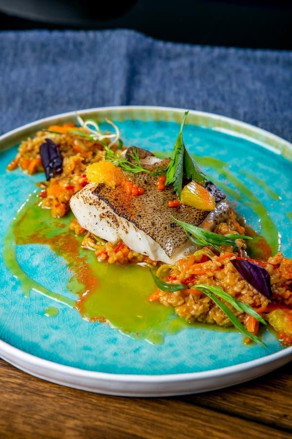 Halibut dish stock image. Image of halibut, delicacy ... Alaskan Halibut Dish