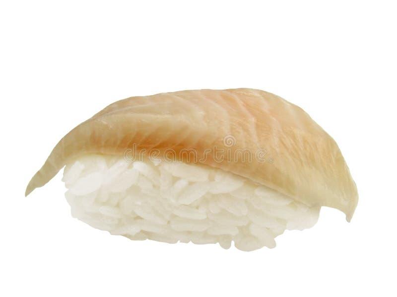 Halibut sushi stock image