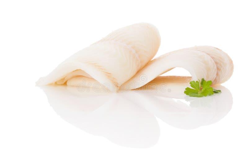 halibuta świeży stek fotografia royalty free