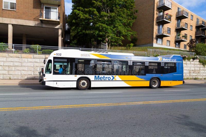 Halifax-Öffentlichkeits-Bus stockfoto