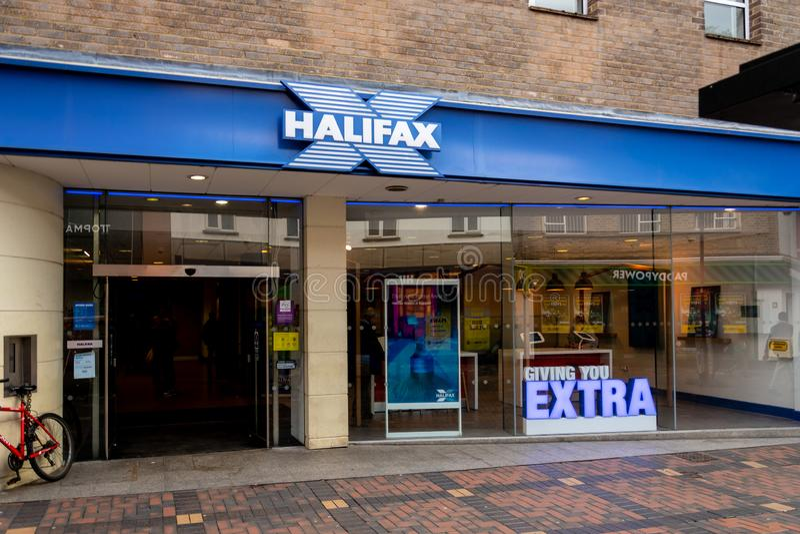Halifax Bank Swindon imagenes de archivo
