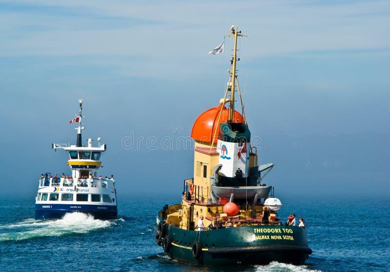 Halifax-Boote stockbilder