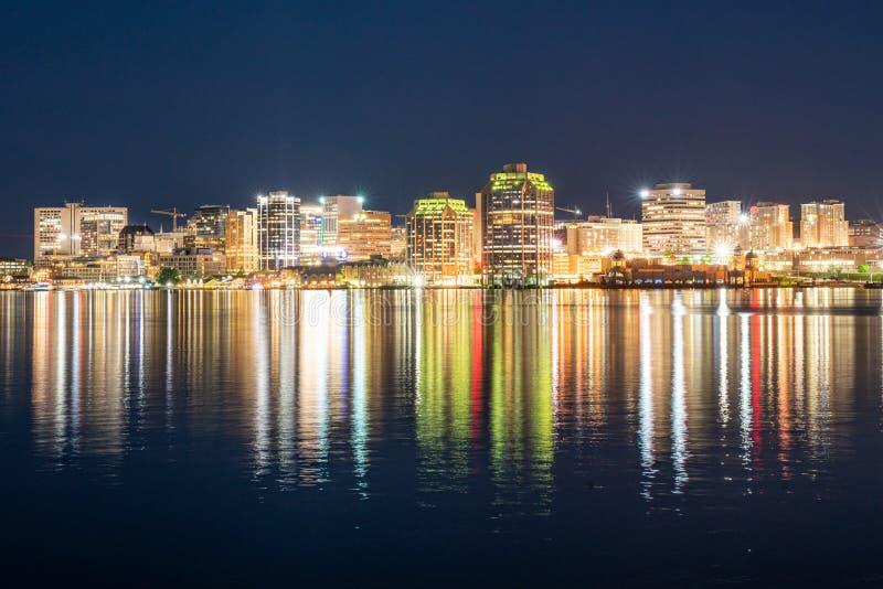 Halifax City Skyline at Night stock photography