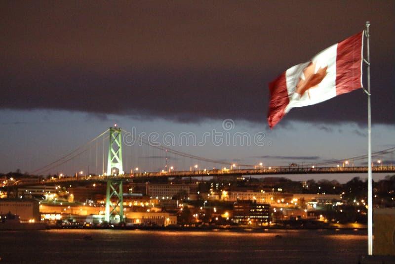 Halifax hamn, NS - sikt av hamnframdelen royaltyfri foto