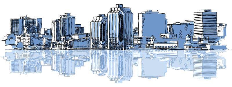 Halifax horisont stock illustrationer