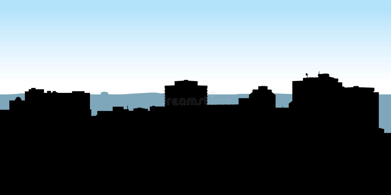 Halifax linia horyzontu ilustracja wektor