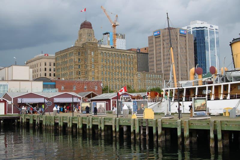 Halifax, lungomare di Nova Scotia fotografia stock libera da diritti