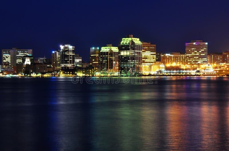Halifax Nova Scotia bij nacht in Juli royalty-vrije stock afbeeldingen