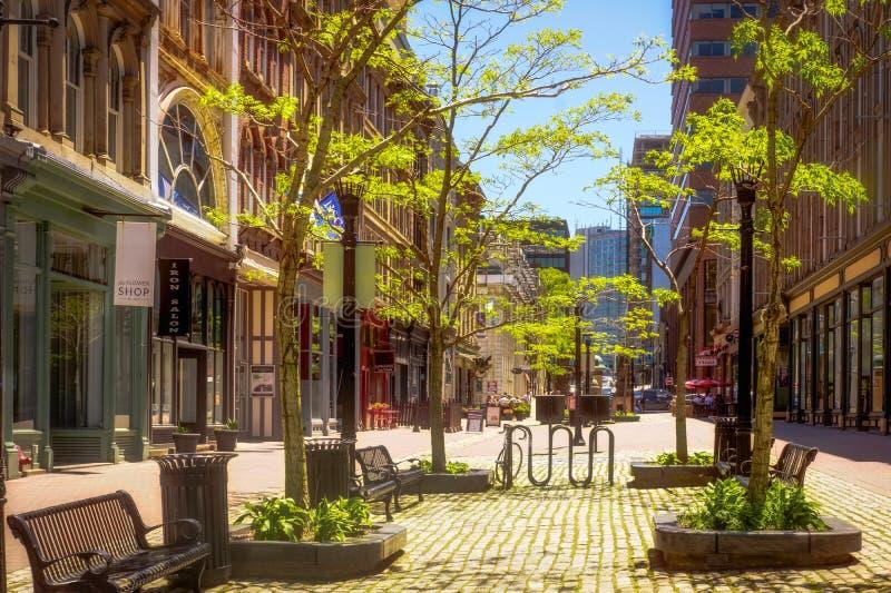 Halifax Nova Scotia Historic Properties, Canada fotografie stock