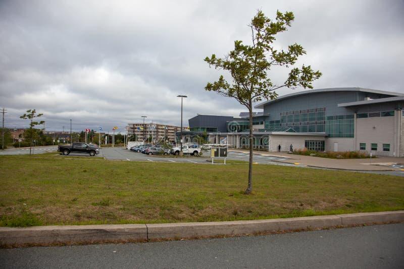 Canada Games Centre after Hurricane Dorian royalty free stock photos