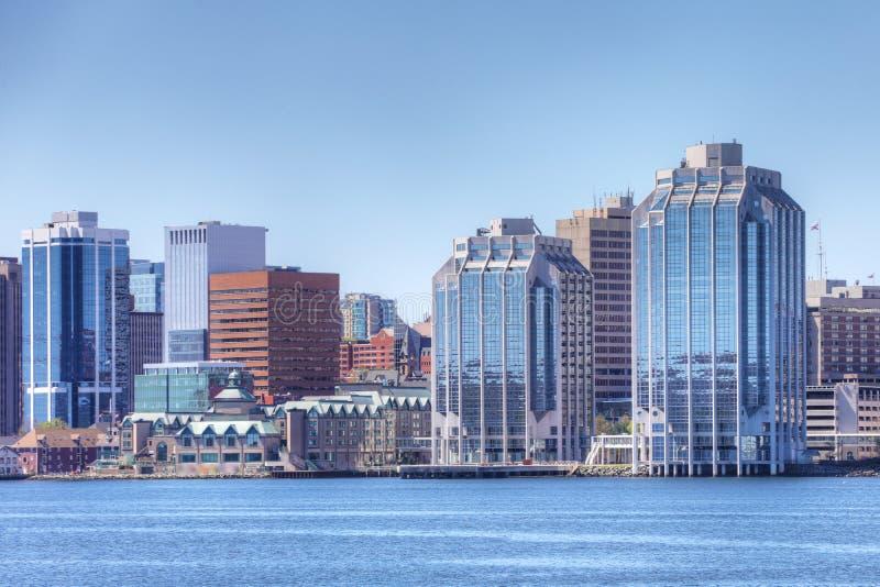 Halifax, orizzonte di Nova Scotia di mattina fotografie stock libere da diritti