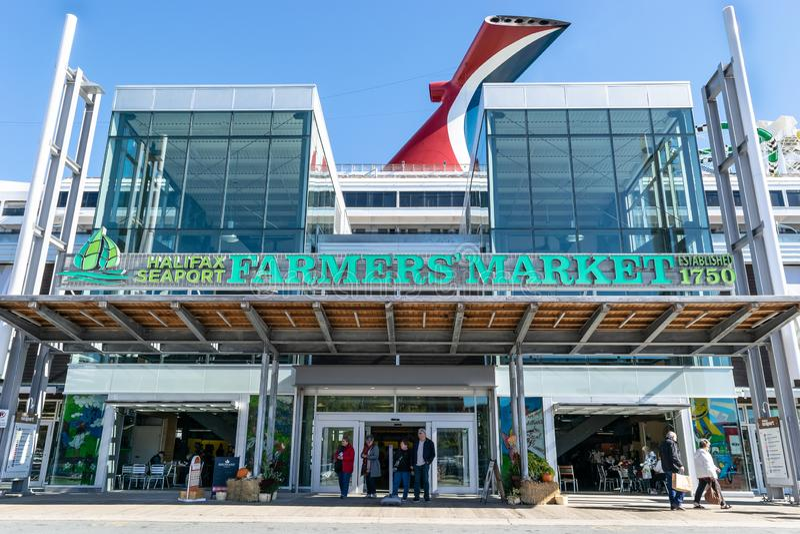 Halifax Seaport Farmer`s Market in Canada royalty free stock photo