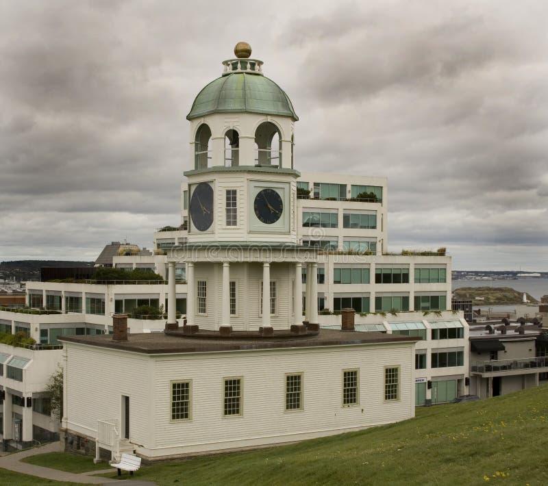 Halifax-Stadtborduhr lizenzfreies stockfoto