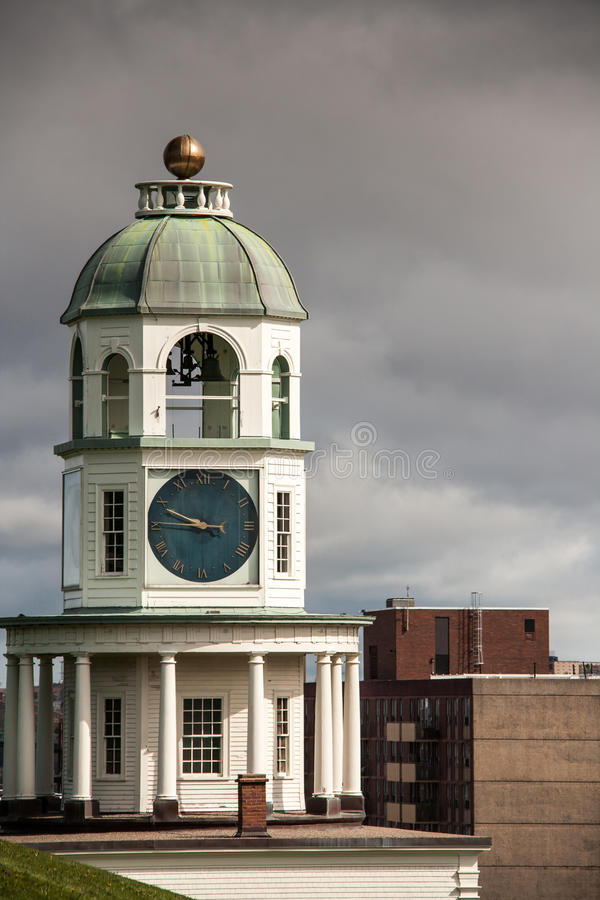 Halifax-Stadtuhr stockfotos