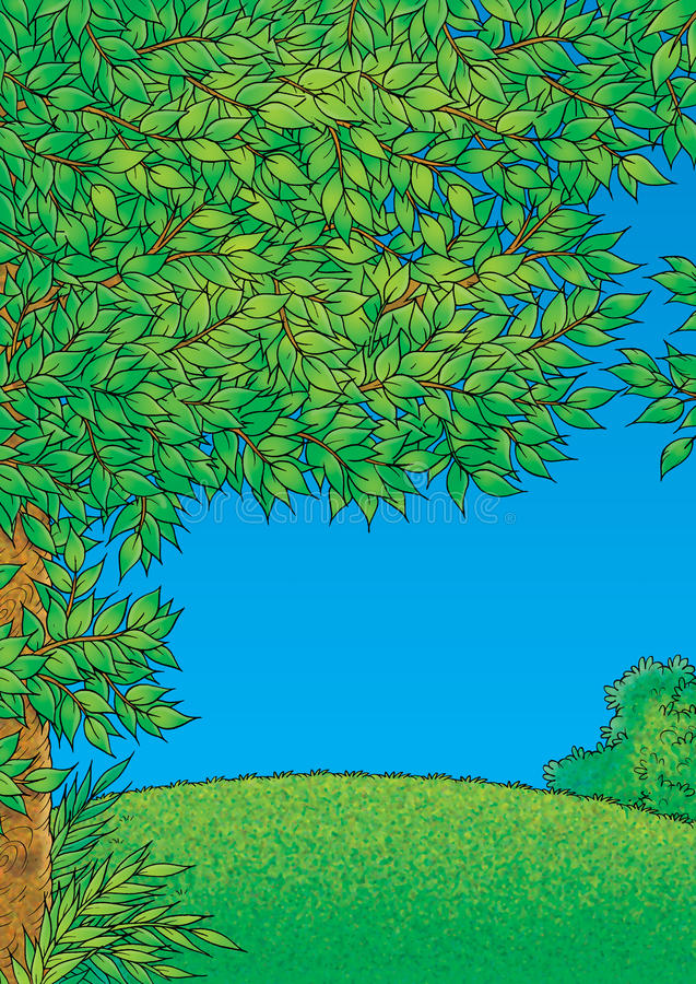 halizny zieleń royalty ilustracja