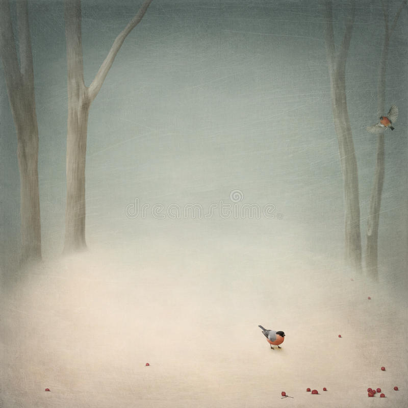 halizny zima ilustracji