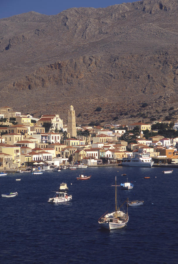 Halki-Dodecanese (Греция) стоковая фотография