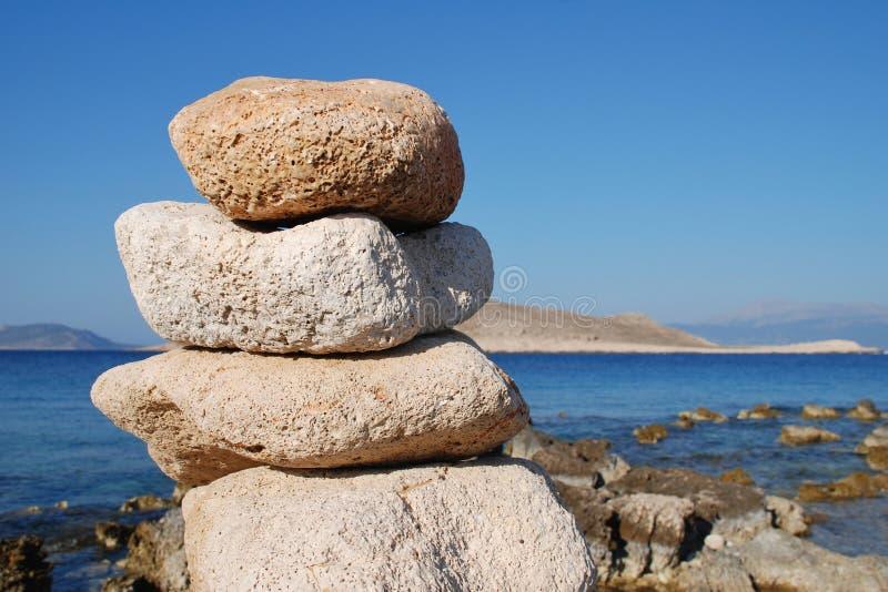 Halki island stones royalty free stock photo