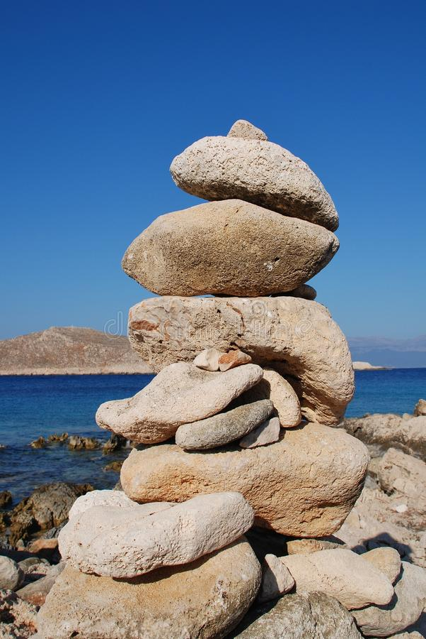 Halki-Steinturm, Griechenland stockfoto