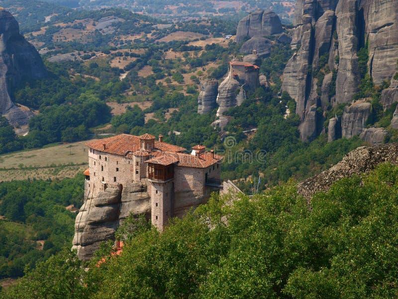 Halkidiki. Complexo do monastério de Meteora. fotos de stock royalty free