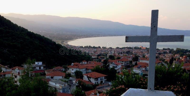 Halkidiki Stavros Греции стоковые изображения rf