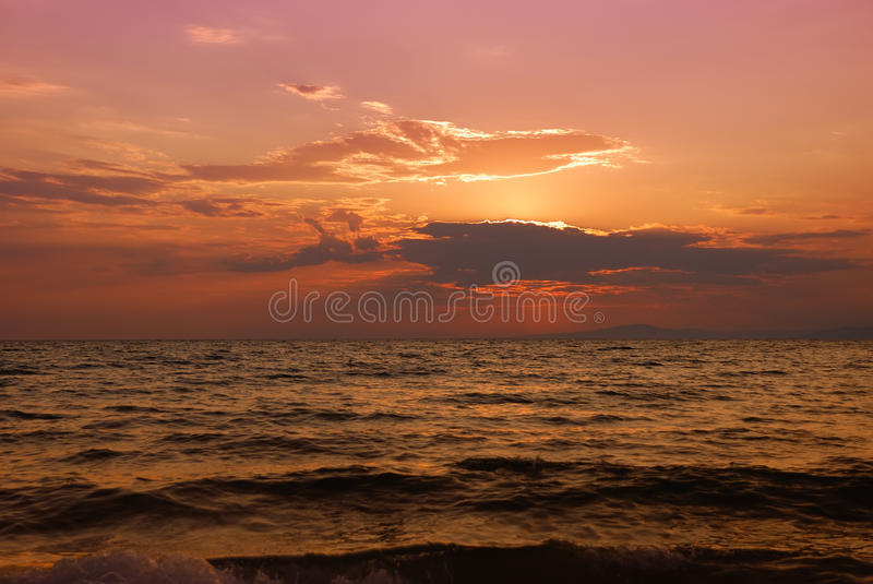 Download Halkidiki twilight stock image. Image of landscape, paradisos - 15904787