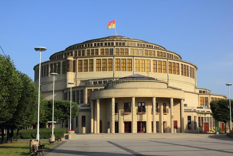 Hall в Wroclaw стоковая фотография rf