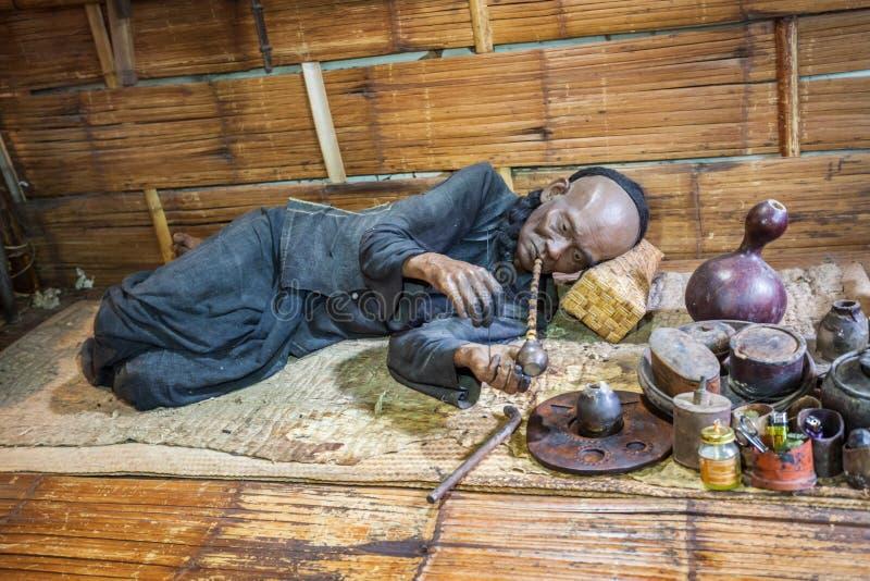 Hall музея опиума стоковое изображение rf