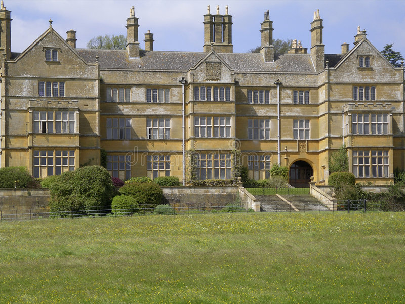 Hall Angleterre à la maison majestueuse de Batsford photo stock
