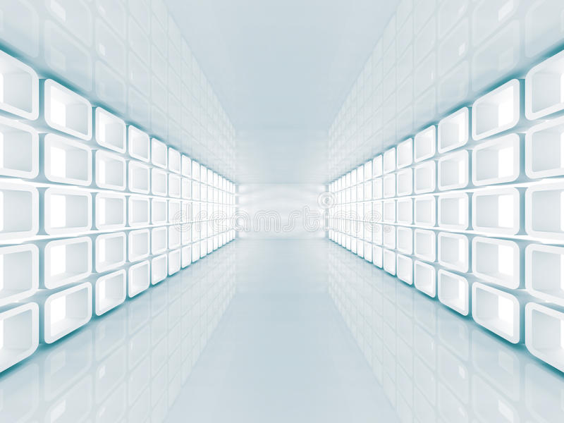 Hall Architecture Background futuristico astratto illustrazione vettoriale