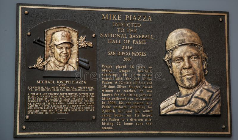 Hall av Famer Mike Piazza av Sanen Diego Padres arkivfoton