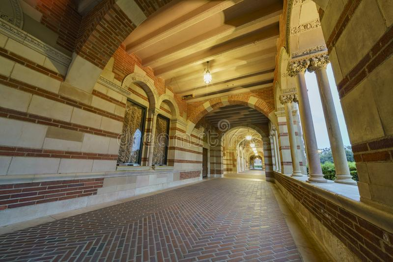 Hall av Royce Hall fotografering för bildbyråer