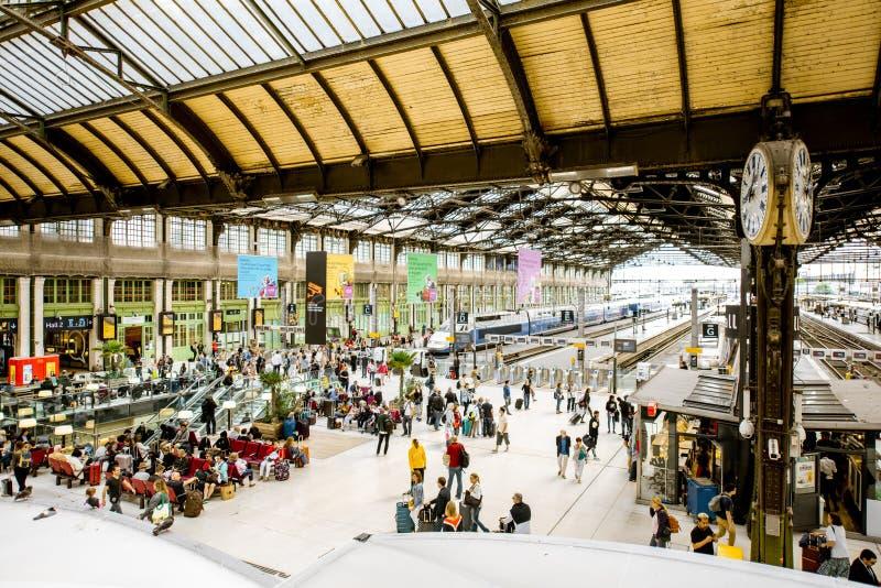 Hall av stationen för Paris Gare de Lyondrev arkivfoto