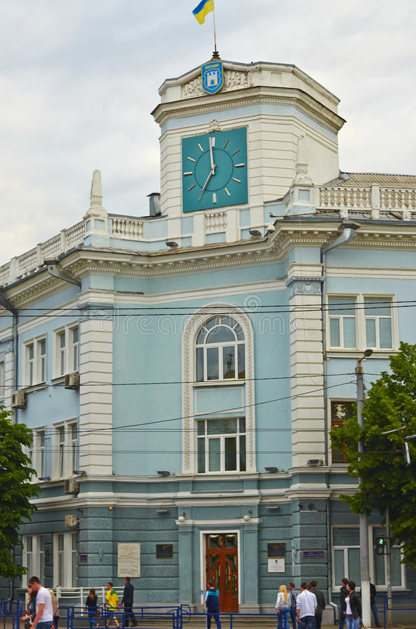 Hall av Zhytomyr royaltyfri bild