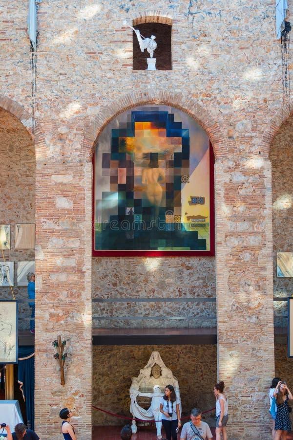"""Hall avec """"Lincoln dans Dalivision """"dans Dali Theatre Dali Theatre et le musée est un musée de Salvador Dali à Figueres, dans C images stock"""