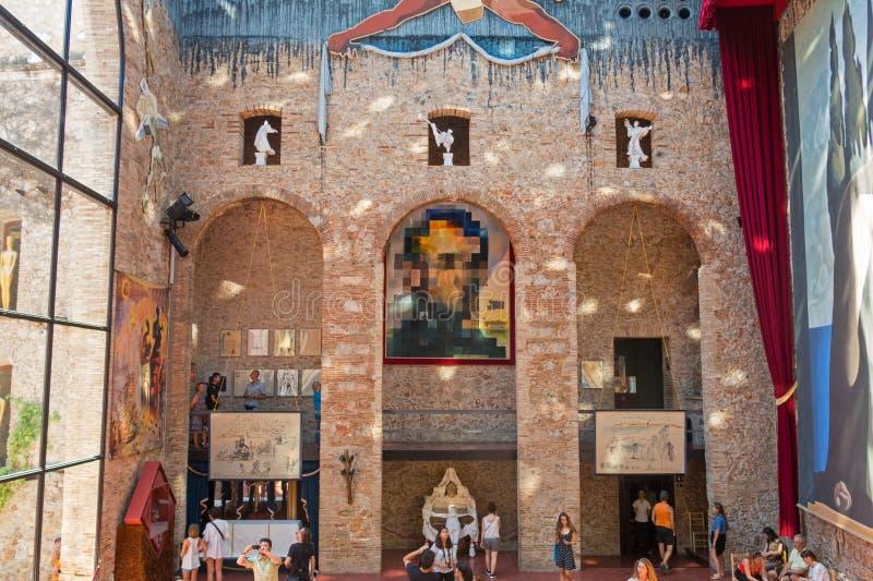 """Hall avec """"Lincoln dans Dalivision """"dans Dali Theatre Dali Theatre et le musée est un musée de Salvador Dali à Figueres, dans C photographie stock"""