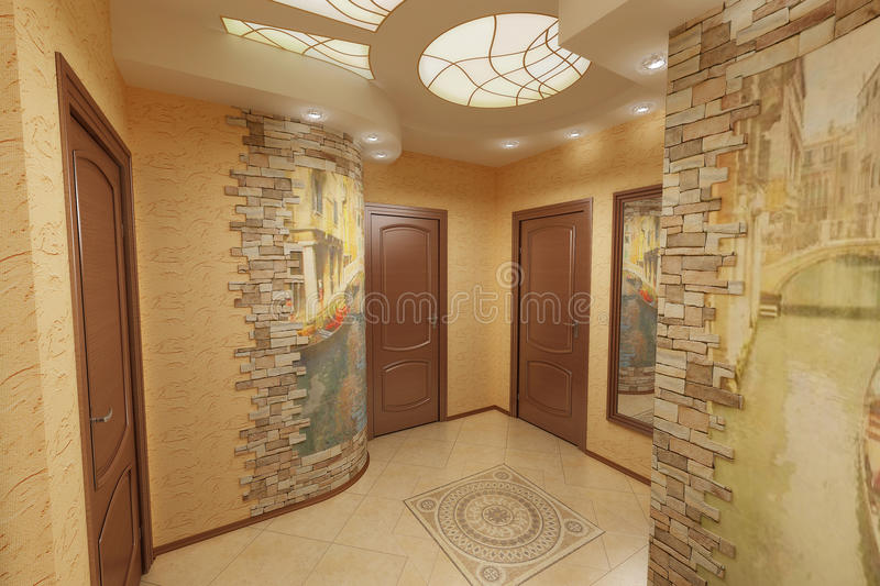Download Hall of the beige flat stock photo. Image of flat, lodgement - 10805002