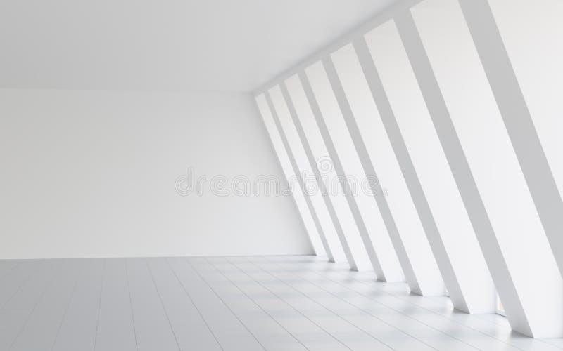 Hall blanc vide illustration stock